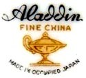COMMERCE-PACIFIC, Inc.  -  ALADDIN  [Importers & Distributors - most items from Japan]  (Los Angeles, CA, USA)  - ca 1945 - 1952  and 1952 - 1960s without OCC. JAPAN notation